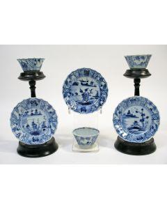 Chinees porseleinen kommen en schoteltjes, Kangxi periode