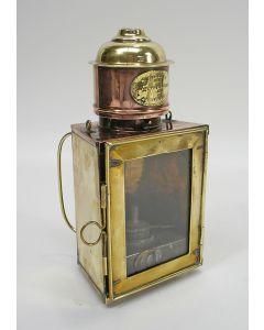 Koperen lantaarn, W. Hibbeln, Amsterdam, 19e eeuw