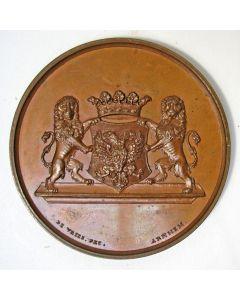 Penning ter ere van J.J.A.A. Baron van Pallandt, burgemeester van Arnhem 1841-1872