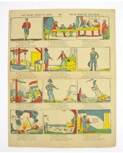 Centsprent, 'Van Speijk's leven en dood. / Vie et Mort de Van Speyk', 19e eeuw.