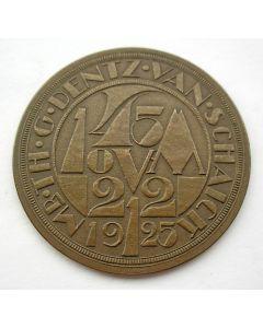 Penning, overlijden van verzamelaar en jurist Th. G. Dentz van Schaik, 1925 [Chris van der Hoef]
