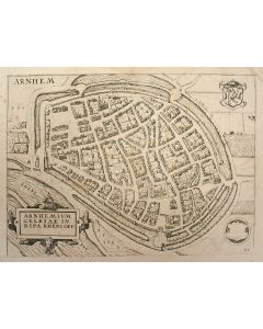 Kopergravure, de Stad Arnhem, L. Guicciardini, ca. 1609