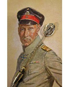 Gouden dasspeld met diamanten, met het symbool van Keizer Wilhelm II van Duitsland, geschonken door Kroonprins Wilhelm, ca. 1920