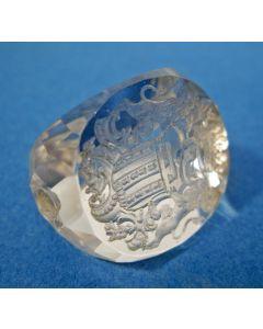 Kristallen signet met het familiewapen Van Haeften, ca. 1800