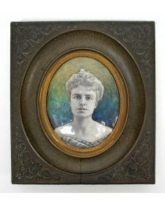Portretminiatuur, Agnes Henriette Schuurbeque Boeye-Labouchere, ca. 1900