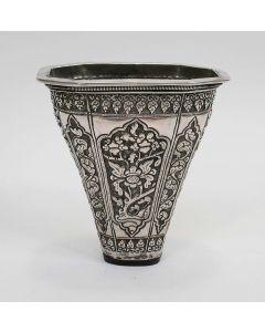 Zilveren sirihbakje / betelbladhouder, 19e eeuw