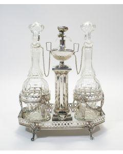Zilveren olie- en azijnstel, Willem Cornelis Wierckx, Breda, 1800