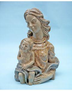 Aardewerk Madonnabeeld, Suzanne Nicolas-Nijs, Beesel, ca. 1955