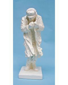 Wit aardewerk beeld, 'De leste zwegel', Frans van de Laar voor De Sphinx, ca. 1937