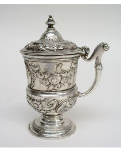 Zilveren mosterdpot, Reinier de Haen, Den Haag 1737