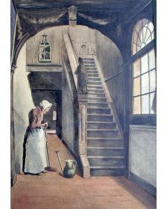 Johan Paul Grolman, trappenhuis van 'Kunstliefde', Utrecht, aquarel, ca. 1895