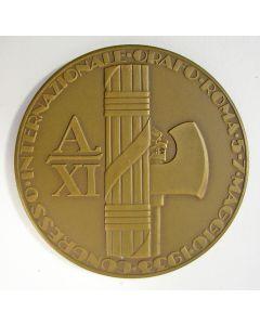 Penning met fascistische thematiek, Juwelierscongres Rome, door Carel Begeer, 1933