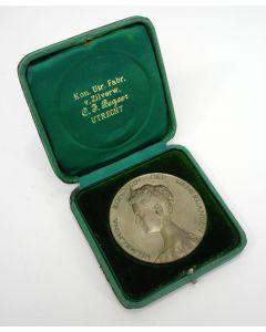 Inhuldigingsmedaille Koningin Wilhelmina 1898, in cassette