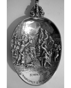 Zilveren herdenkingslepel, Honderd jaar Koninkrijk, 1913