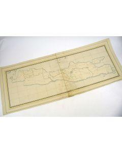 Handgetekende kaart van Java, 19e eeuw