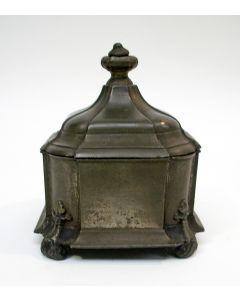 Tinnen tabakspot, Dordrecht, 18e eeuw