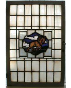 Glas-in-lood raam door Bogtman, ca. 1925