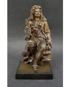 Bronzen beeld met de voorstelling van de natuurkundige Isaac Newton, 19e eeuw