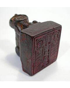 Japanse houten stempel voor het signeren van houtsneden, 19e eeuw