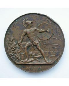 Beloningspenning Beleg van Antwerpen, 1832, met naamsgravering
