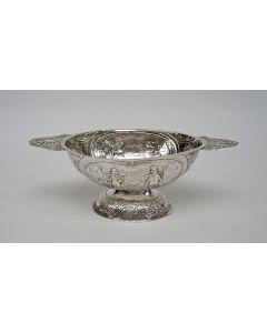 Friese zilveren brandewijnkom, Pieter Schmitz, Leeuwarden 1828