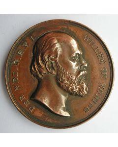 Penning, 70e verjaardag van Koning Willem III, 1887