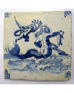 Tegel, zeewezen, ca. 1700