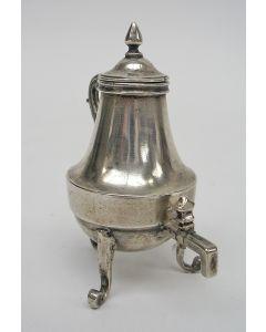 Zilveren miniatuur kraantjeskan, Pieter Snijder Haarlem, 1742