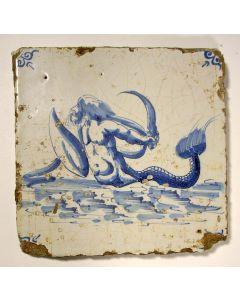 Tegel, zeemeerman, ca. 1700