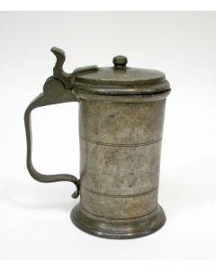 Tinnen maatkan, 0,4 liter, 19e eeuw