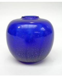 A.D. Copier, kobaltblauw tincraquelé vaasje, collectie 'Sonoor', 1935