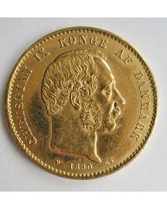 Denemarken, 20 kronen goud, 1890