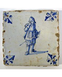 Krijgsmantegel, lansier, 17e eeuw