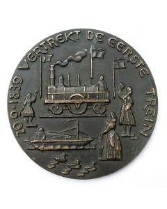 Penning VPK 1939 (#1) 'Eeuwfeest Nederlandse Spoorwegen' [Frits van Hall]