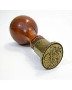 Lakstempel met familiewapen Boonen, 19e eeuw