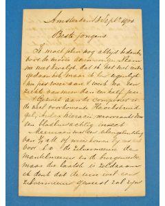 Handgeschreven brief van Jac. P. Thijsse, 1900