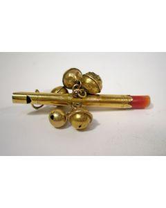 Gouden rammelaar / rinkelbel, 18e/19e eeuw