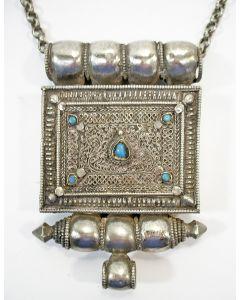 Tibetaanse zilveren gebedsdoos