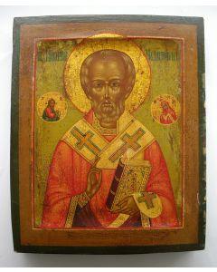 Russische icoon, Heilige Nicolaas, 19e eeuw