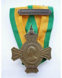 Oorlogsherinneringskruis, met gesp 'Krijg te land 1940-1945'
