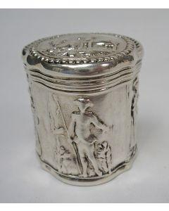 Zilveren lodereindoosje, Dirk Goedhart, Amsterdam, 1796