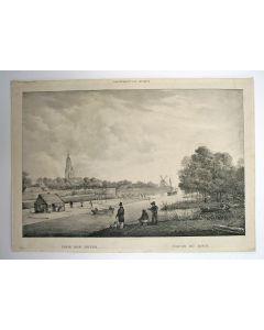 Gezicht op Arnhem, lithografie, ca. 1835