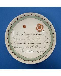 Staffordshire creamware schotel met orangistisch opschrift, ca. 1785.