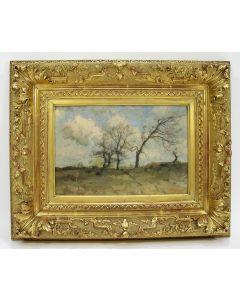 Louis Albert Roessingh, 'Drents landschap', olieverf op paneel (Herkomst: Jhr. Willem Sandberg)