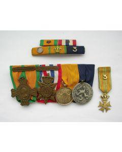 Groep van vijf onderscheidingen van een marinemilitair, ca. 1940-1965