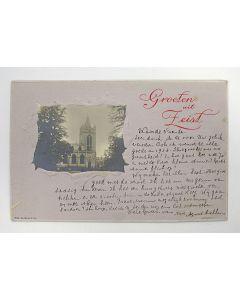 Prentbriefkaart, verzonden door Agatha Snellen, oprichtster van de gelijknamige school te Utrecht, 1906