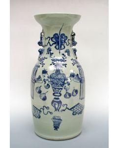 Chinese porseleinen buikvaas, 19e eeuw