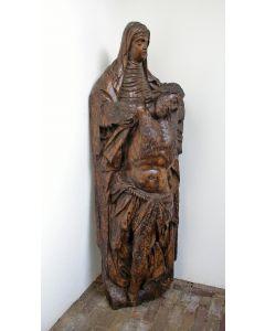 Eikenhouten Pieta, Vlaanderen, 16e eeuw