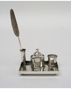 Miniatuur zilveren inktstel, Arnoldus van Geffen, Amsterdam 1763
