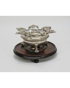 Zilveren pijpkomfoor, Timon Suyk Amsterdam, 1727